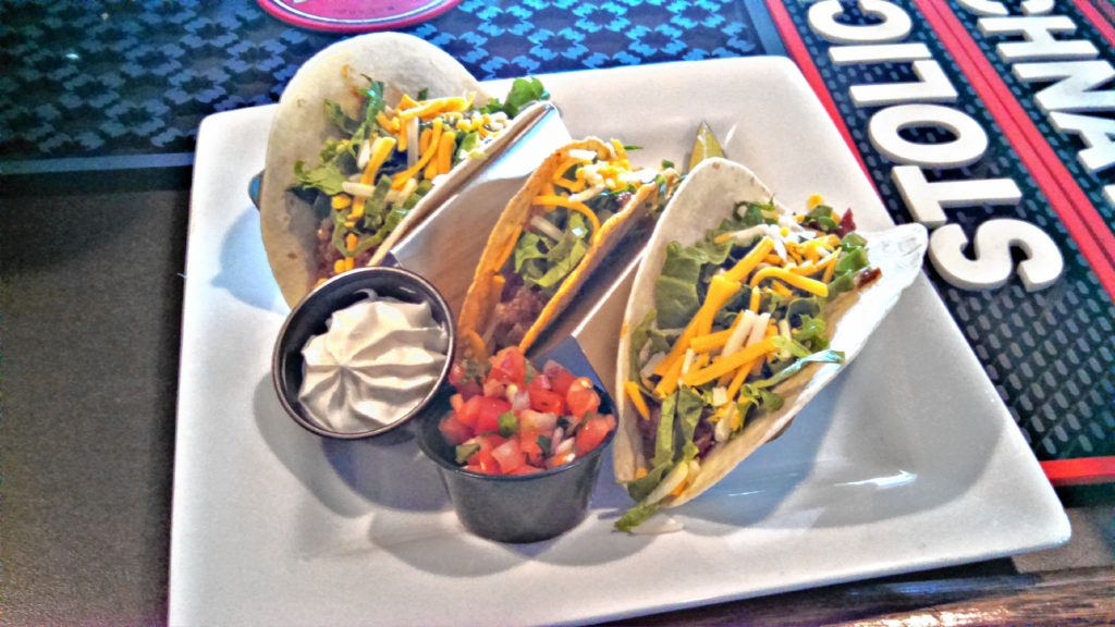 Three tacos from the Red Blazer, purchased on Taco Tuesday last week. THE FOOD SNOB / Insider staff
