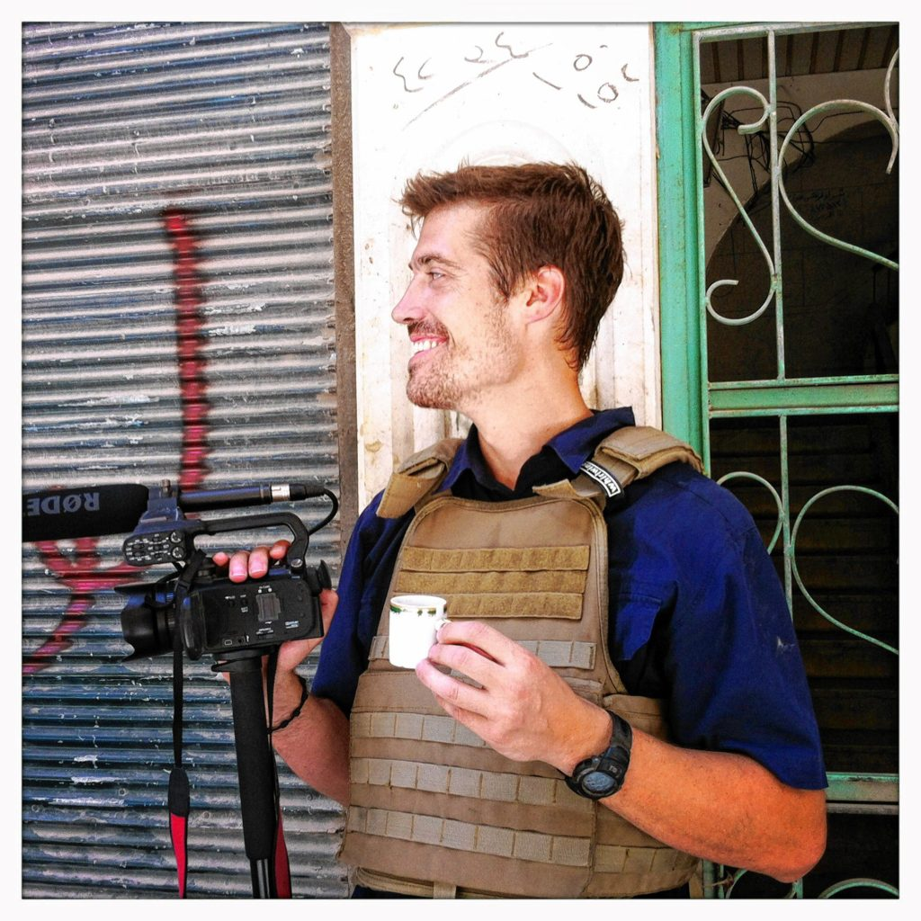 James Foley in Syria in 2012.  Courtesy of Nicole Tung  GEOFF FORESTER