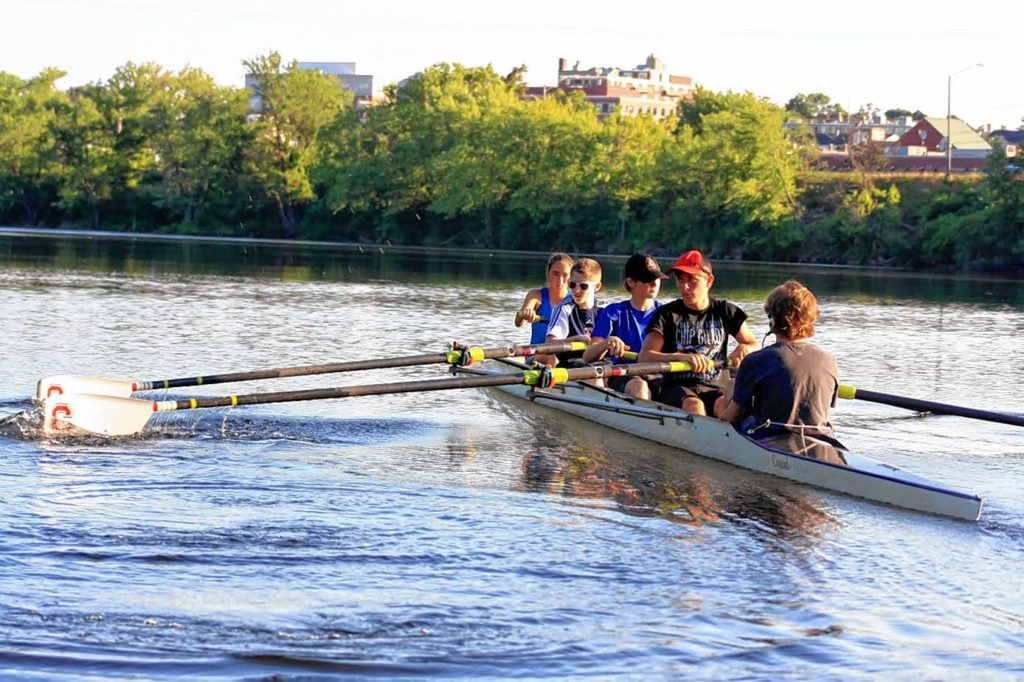 Concord Crew is hosting a Learn to Row Day at its boathouse behind Everett Arena on Saturday. COURTESY