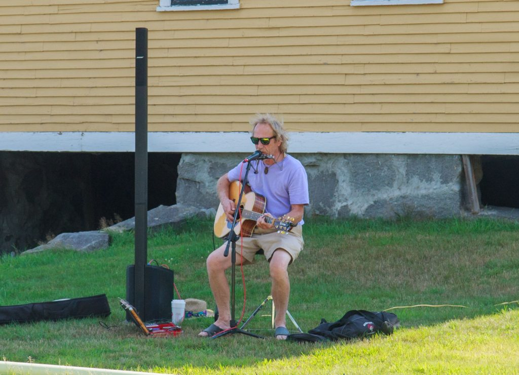 Brian Warren was the live entertainment at this weeks Penacook Farmers Market. August 8, 2016 (JENNIFER MELI / Monitor Staff)