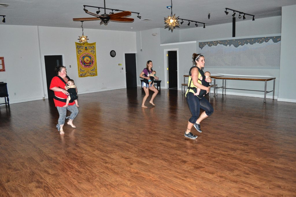 We stopped by The River Guild to check out a Baby REVELution Dance Class, where we found instructor Christine Brown, with her four-month old son Revel, Sara Persechino (Lucca, 8 months) and Kendra Chagnon (Jaaeger, 10 months) dancing the morning away. TIM GOODWIN / Insider staff