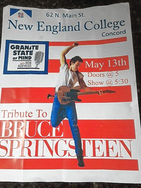 Don't miss the Bruce Springsteen tribute night at the next installment of Granite State of Mind at NEC Concord on Saturday.(Courtesy of Rob Azevedo)