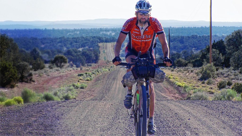 A scene from Ride the Divide, which is playing at Red River Theatres on Thursday night.  Courtesy