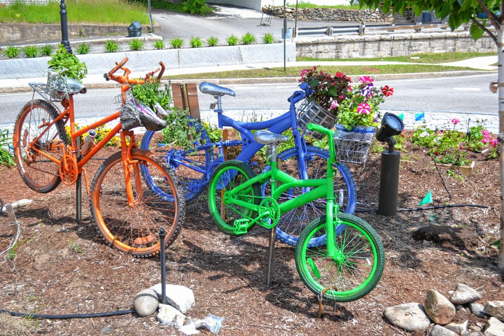 We found this new addition to the Big Bicycle Project in the middle of the rotary in downtown Penacook. Tim Goodwin / Insider staff