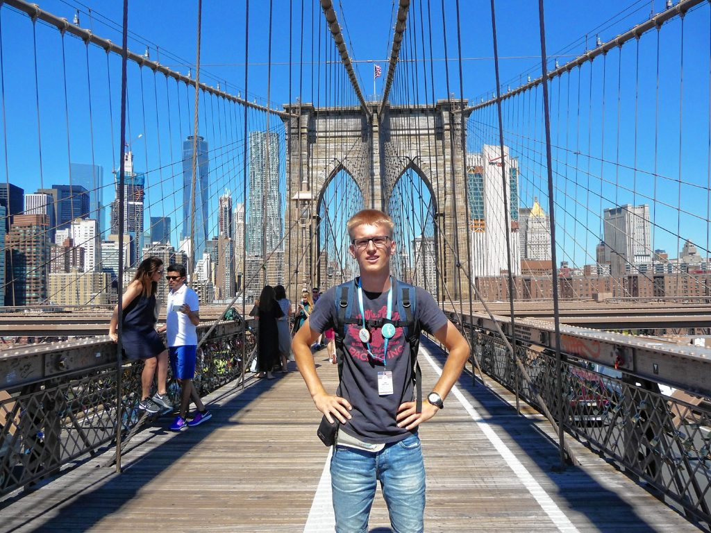 Loic Servais during a trip to New York City. Courtesy