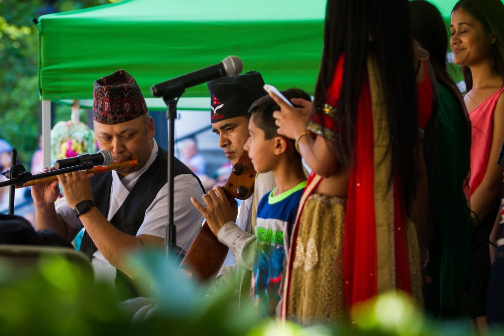 The Himalayan Heritage Music Group performs during the Concord Multicultural Festival downtown on Saturday, June 25, 2016. (ELIZABETH FRANTZ / Monitor staff) Elizabeth Frantz