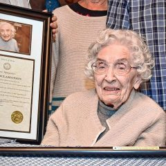 Bow is looking for the town's oldest citizen