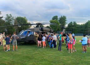 Mingle and check out a Black Hawk helicopter at National Night Out