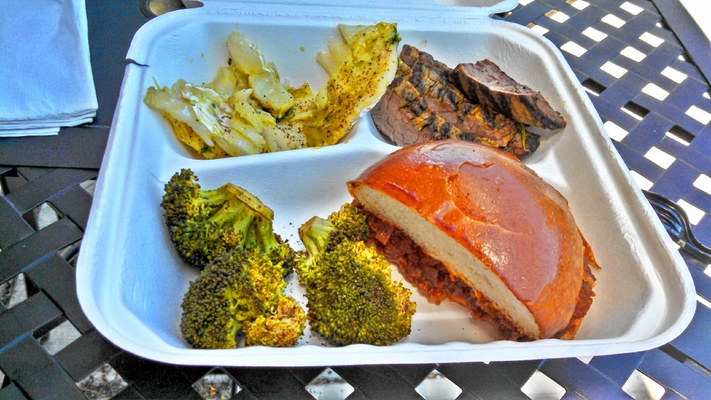 We tried some cod, flank steak, sloppy Joe and steamed broccoli from the Concord Food Co-op's Co-op Cafe. THE FOOD SNOB / Insider staff
