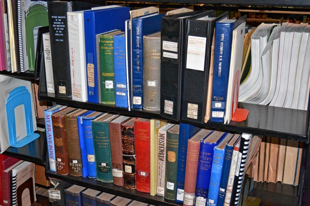 The state library also has New Hampshire Regimental histories to thumb through. TIM GOODWIN / Insider staff