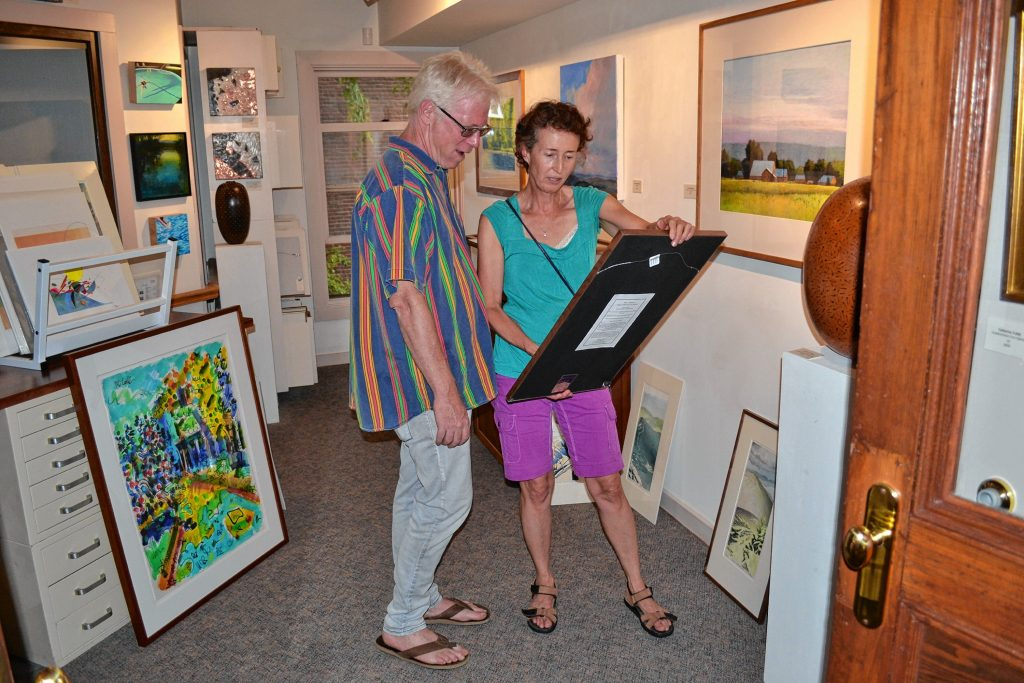 Jeff Schult and Anne Renner enjoyed a little time together at the McGowan Fine Art opening of 'Inertia.' Date nights in Concord sure can be a lot of fun. TIM GOODWIN / Insider staff