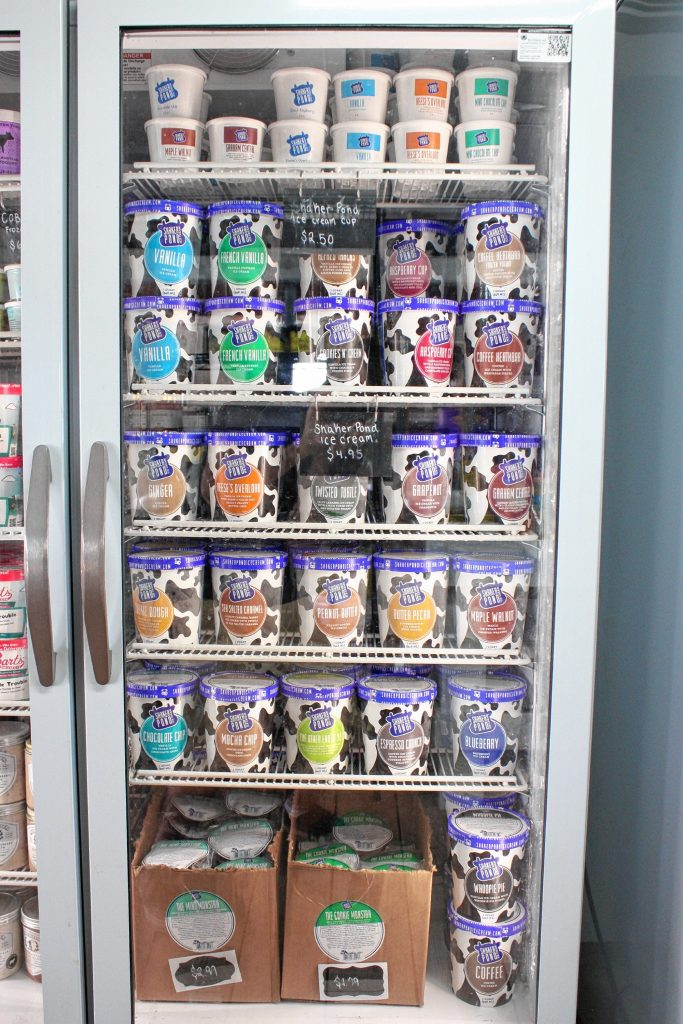 Dimond Hill Farm offers a healthy selection of Maine-based Shaker Pond ice cream. JON BODELL / Insider staff