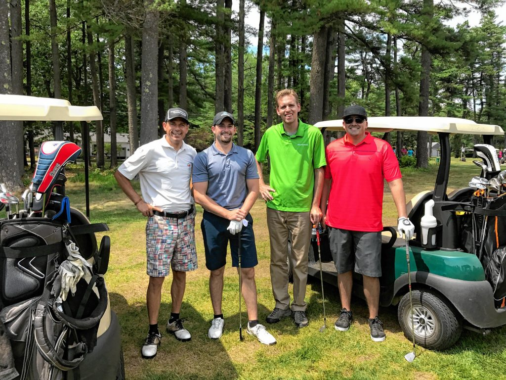 Winners of the 2017 Funds for Education Golf Tournament presented by the Greater Concord Chamber of Commerce, from left: Brian Lavoie, Daniel Gray, Ryan Desmarais and David Simons. Courtesy of Greater Concord Chamber of Commerce