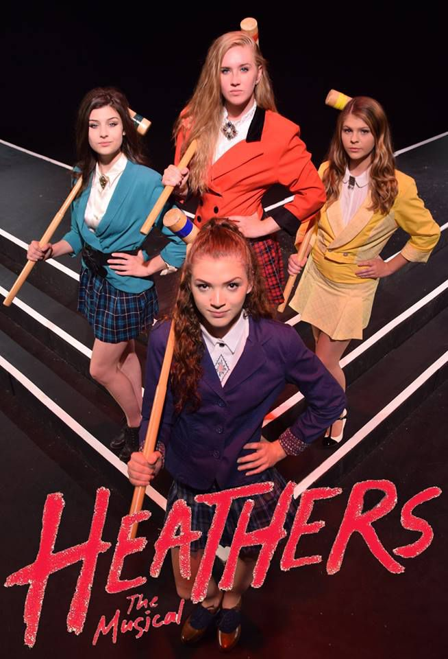 Eliza Richards of Concord as Heather Chandler, Mary Sullivan of Londonderry as Heather McNamara, Aly Aramento of Londonderry as Veronica Sawyer, and GraceAnn Kontak of Concord as Heather Duke.