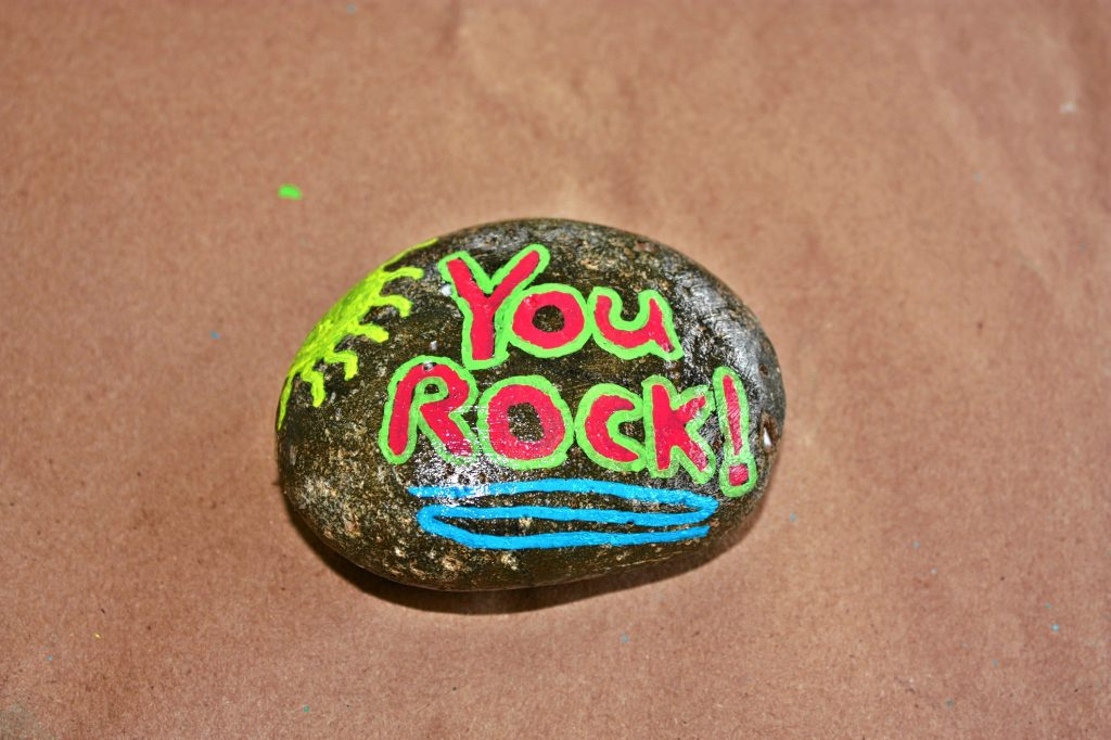Jon made his own Kindness Rock at The Place Studio & Gallery last week. The studio is open for drop-in art making from noon to 6 p.m. Monday through Saturday (and until 8 p.m. on Thursdays and Fridays), during which you can drop in and paint your own Kindness Rock for free -- all the supplies are provided for you. JON BODELL / Insider staff