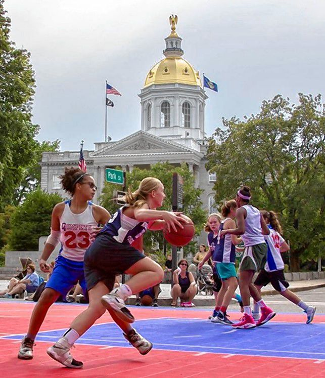 Instagram user @rockonfdn -- which is the Rock On Foundation's account -- posted this nice action shot of some girls hoops during the festival last week. What a setting for some fun and competitive basketball. Instagram user @rockonfdn