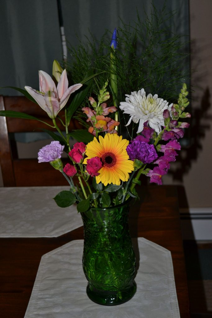 Check out that flower arrangement that I picked out. Tim Goodwin
