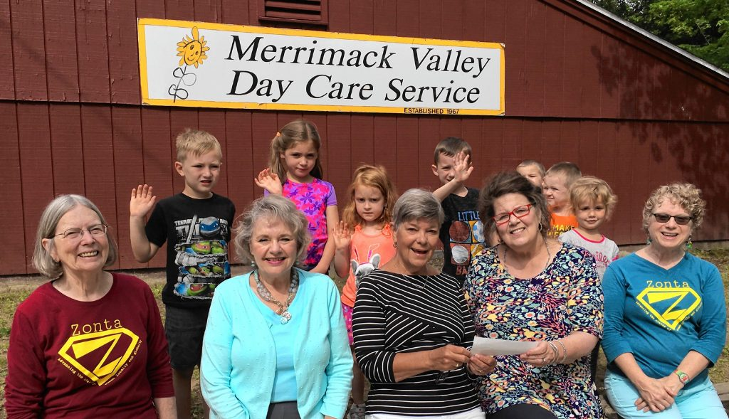 The Zonta Club of Concord recently donated $1,402 to Merrimack Valley Day Care Service thanks to its Market Days book sale. TIM GOODWIN / Insider staff