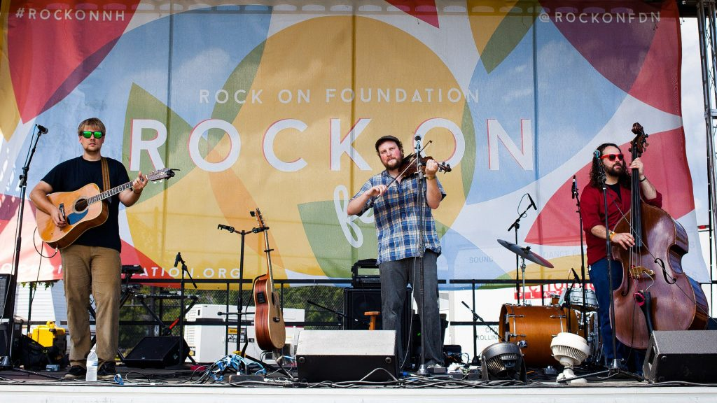The Jordan Tirrell-Wysocki Trio performs on the main stage at Rock on Fest at White Park in Concord during Concord City Celebration Week on Saturday, Aug. 15, 2015.  (ELIZABETH FRANTZ / Monitor staff) ELIZABETH FRANTZ