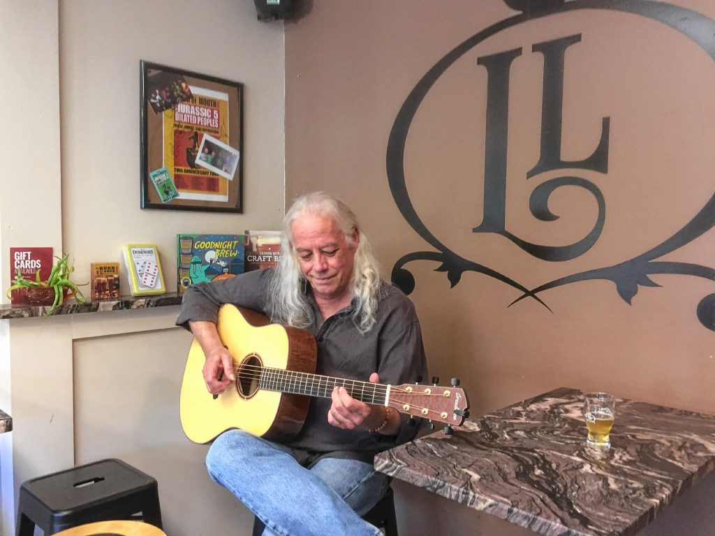 Ed Gerhard visited Lithermans Limited before the concert to help make the beer inspired by his album, Sunnyland, and play a couple tunes on his guitar. Gerhard will play in the Capitol Center for the Arts Spotlight Cafe on Saturday, the same day Litherman's unveils its new brew. Courtesy