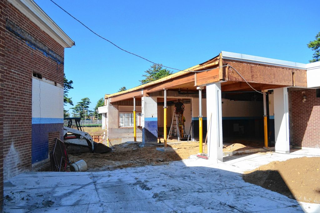 It might not look like it right now, but this will be the front entrance to the new community center. TIM GOODWIN / Insider staff