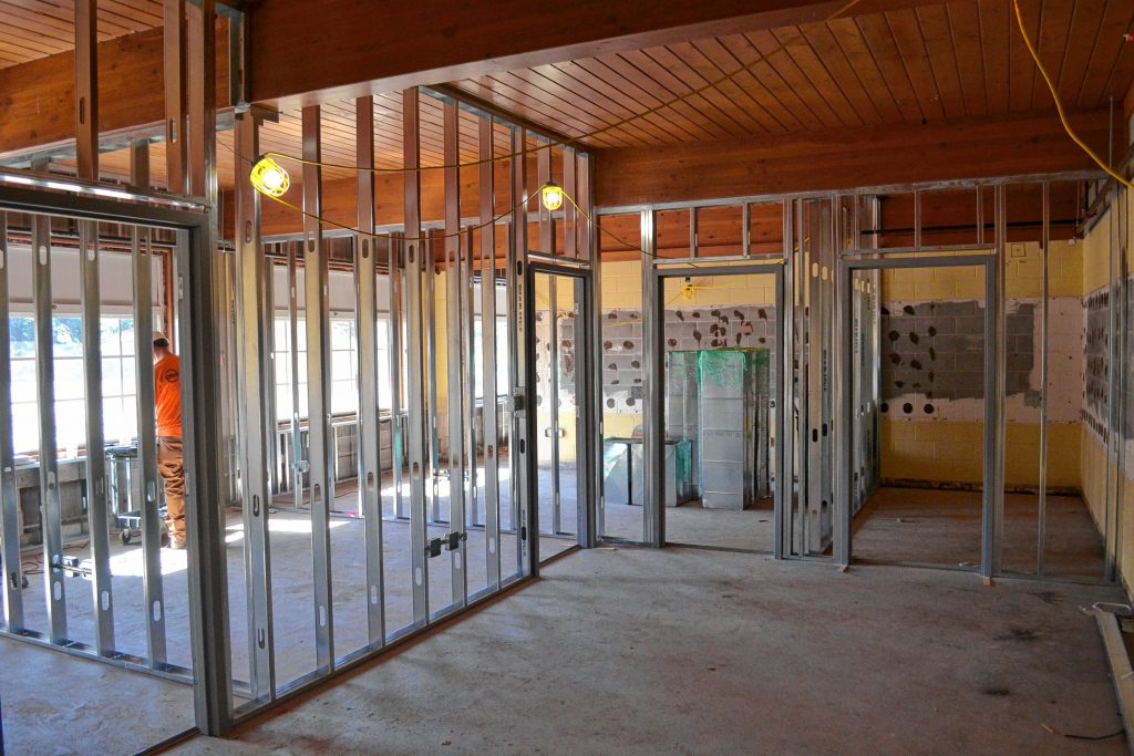 The interior of the existing building is starting to take shape. TIM GOODWIN / Insider staff