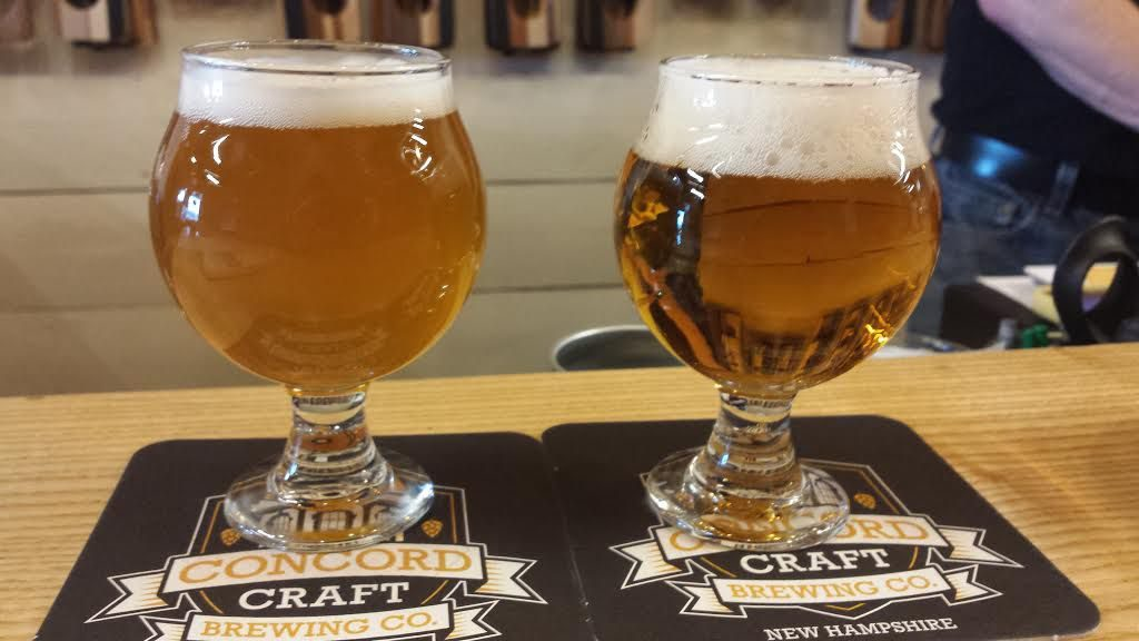 We stopped by Concord Craft Brewing Co. to try the N.H. House Session IPA and The Gov'nah, a double IPA. Tim Goodwin