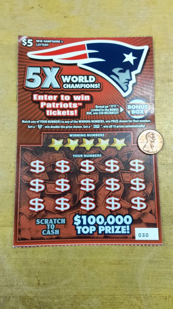 Buy yourself a Patriots scratch ticket and maybe you can win some money (or break even) like we did. TIM GOODWIN / Insider staff