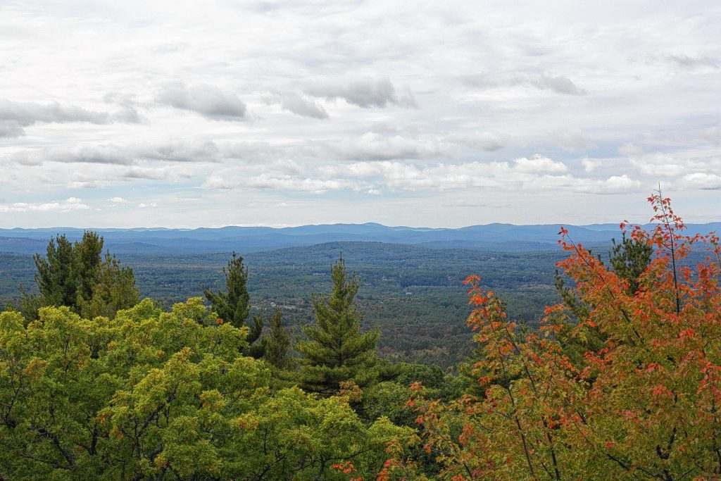 The view from atop the fire lookout tower at the Oak Hill trails is pretty cool. You can see for quite a ways in every direction, as long as you're able to look past or through the several cell towers in the vicinity. For more cool views and Concord trail stuff turn to page 20.