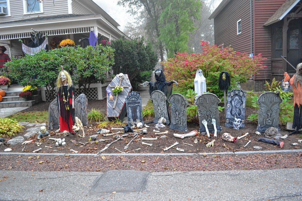 The Shaw family on View Street have been putting together a Halloween display for more than 20 years. TIM GOODWIN / Insider staff
