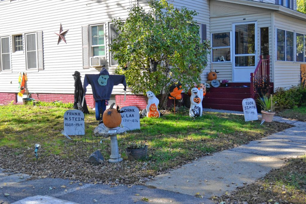 The LaCasse's Halloween display on Broadway is a big hit in the neighborhood. TIM GOODWIN / Insider staff