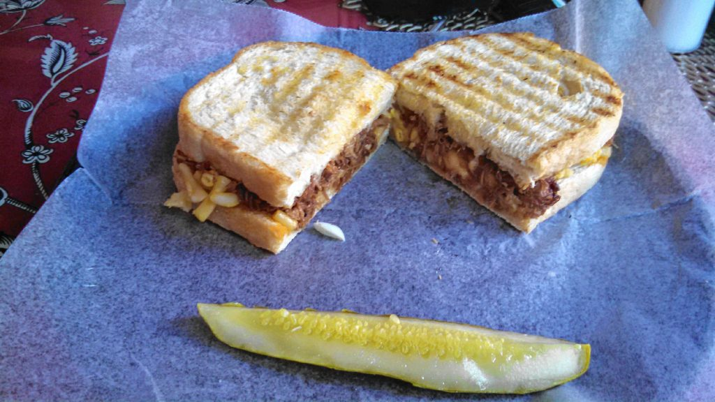 The Porky Mac sandwich from Capital Deli.  THE FOOD SNOB / Insider staff
