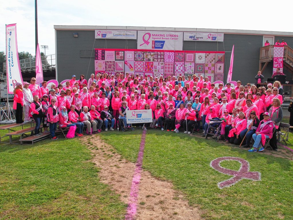 Breast cancer survivors at last year's Making Strides Against Breast Cancer of Concord walk. Courtesy