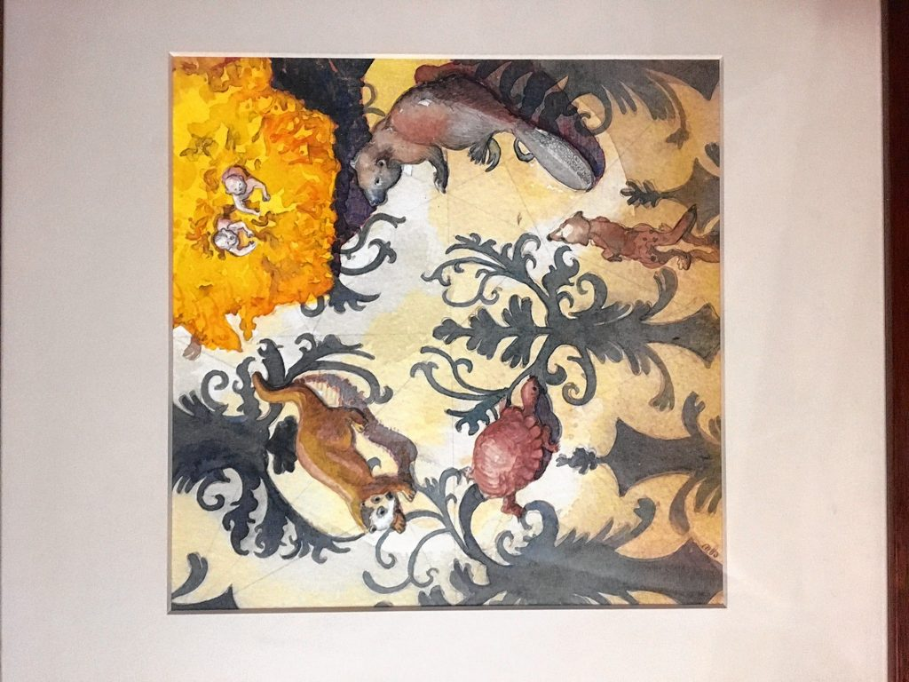 Cupids, Marigolds and the Animals, Corina Willette. Courtesy