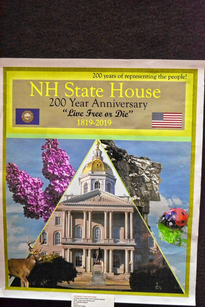 State House Bicentennial, Damian Fowler, Pinkerton Academy, 2nd place High School. TIM GOODWIN / Insider staff