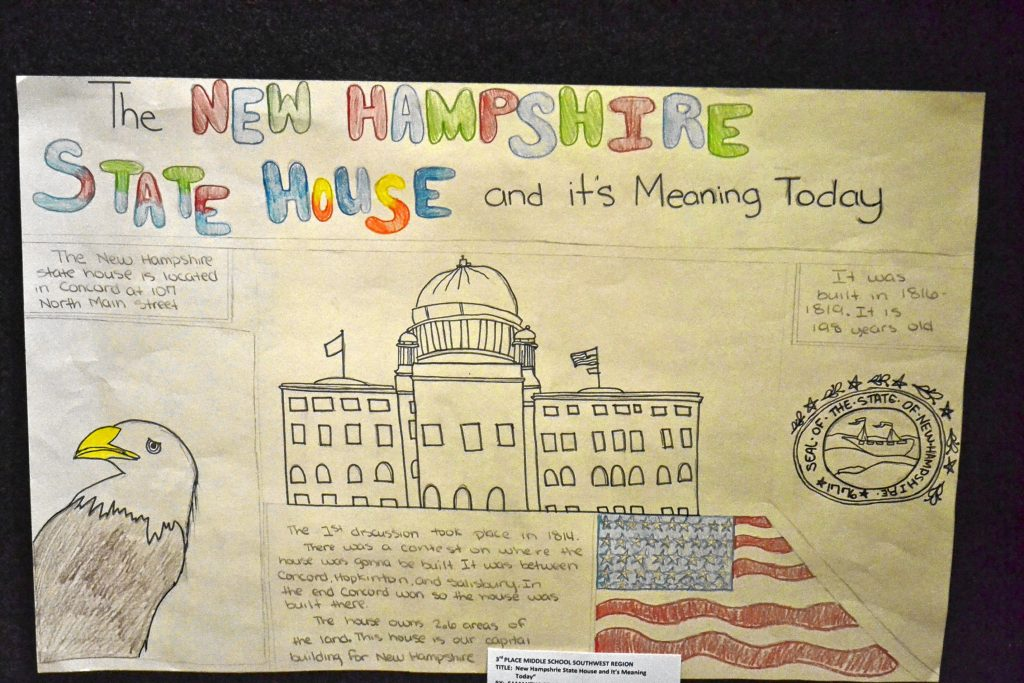 New Hampshire State House and it's meaning today, Samantha Prach, Claremont Middle School. TIM GOODWIN / Insider staff