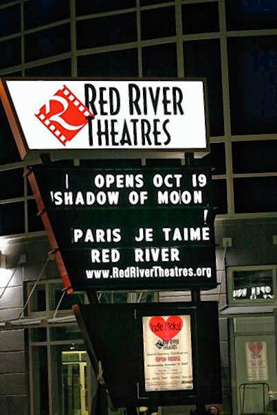 The original marquee for opening night at Red River Theatres. Courtesy