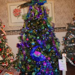 Try to win one of more than 100 fake trees at the Feztival of Trees