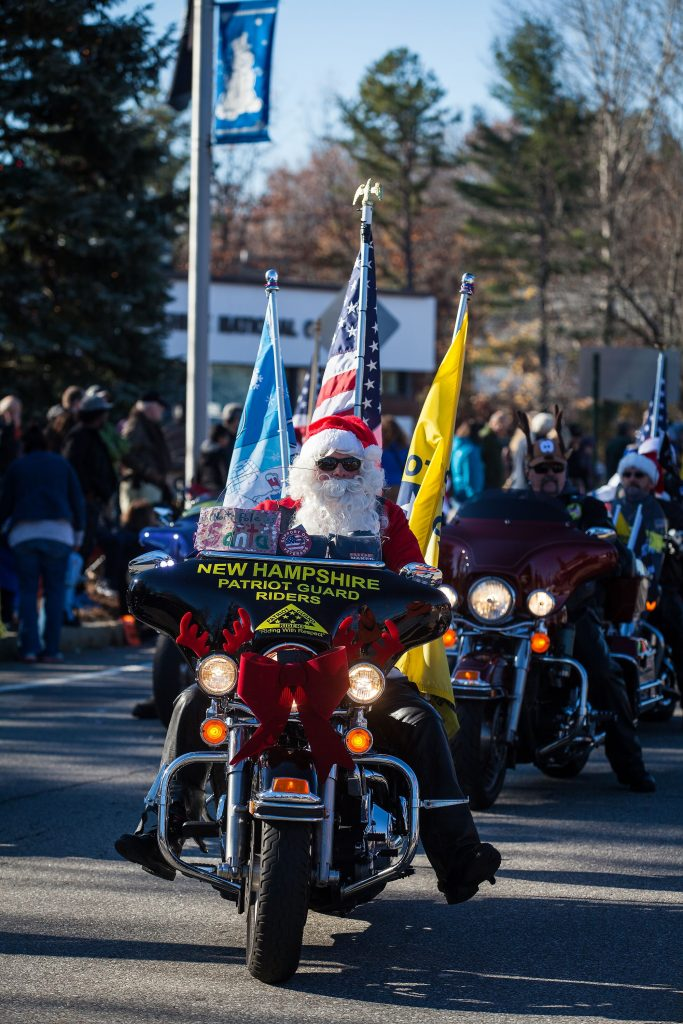 New Hampshire Patriot Guard Riders participate in the annual Concord Christmas parade on the Heights on Saturday, Nov. 19, 2016. (ELIZABETH FRANTZ / Monitor staff) ELIZABETH FRANTZ