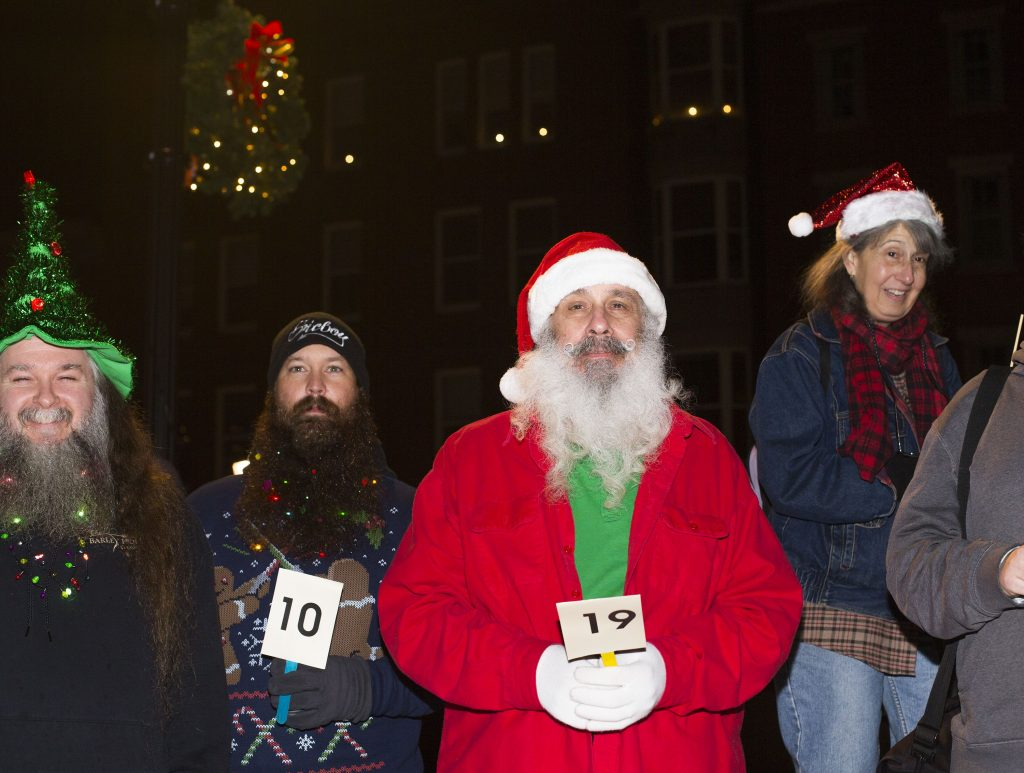 Andy Moisis entered the beard contest Friday night at Midnight Merriment in downtown Concord. GEOFF FORESTER