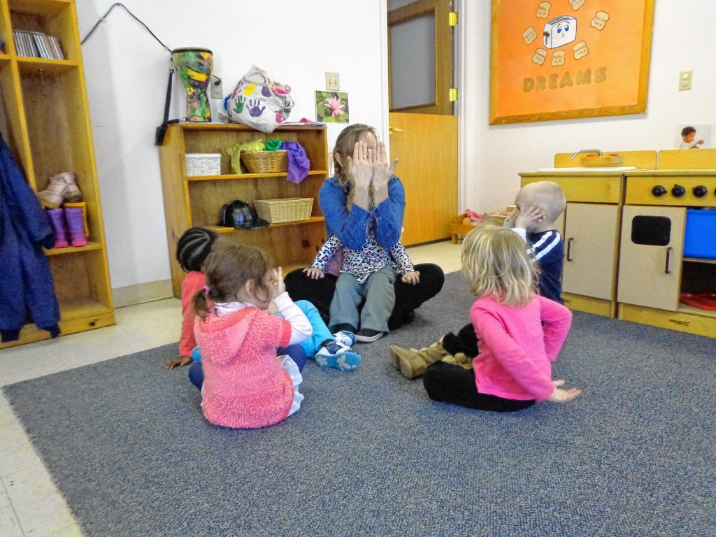 Kids take part in a Music and Movement lesson at Merrimack Valley Day Care Service in Concord. Courtesy of Merrimack Valley Day Care Service