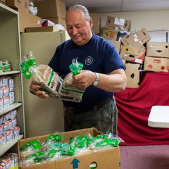 There are many food pantries around here, and they're always looking for help no matter the time of year