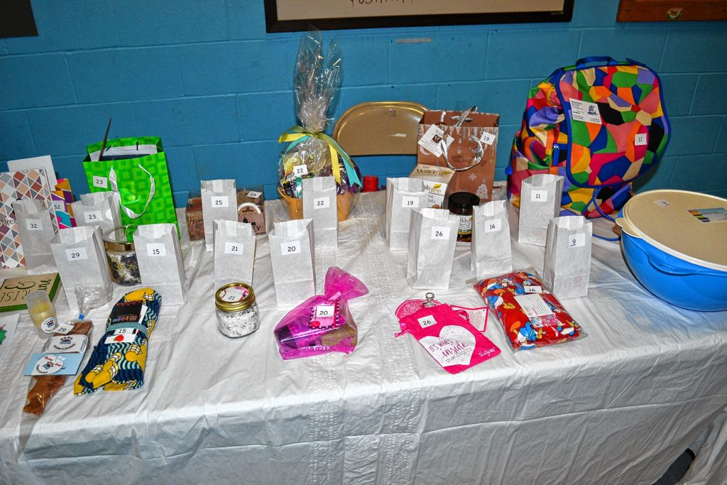 One of the great things about holiday craft fairs is all the raffle prizes you can win. TIM GOODWIN / Insider staff