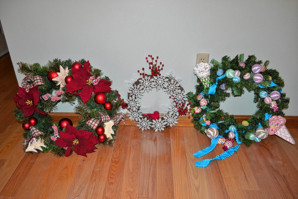 A small sample of the wreaths you'll see at the Penacook Community Center fundraiser on Saturday. TIM GOODWIN / Insider staff