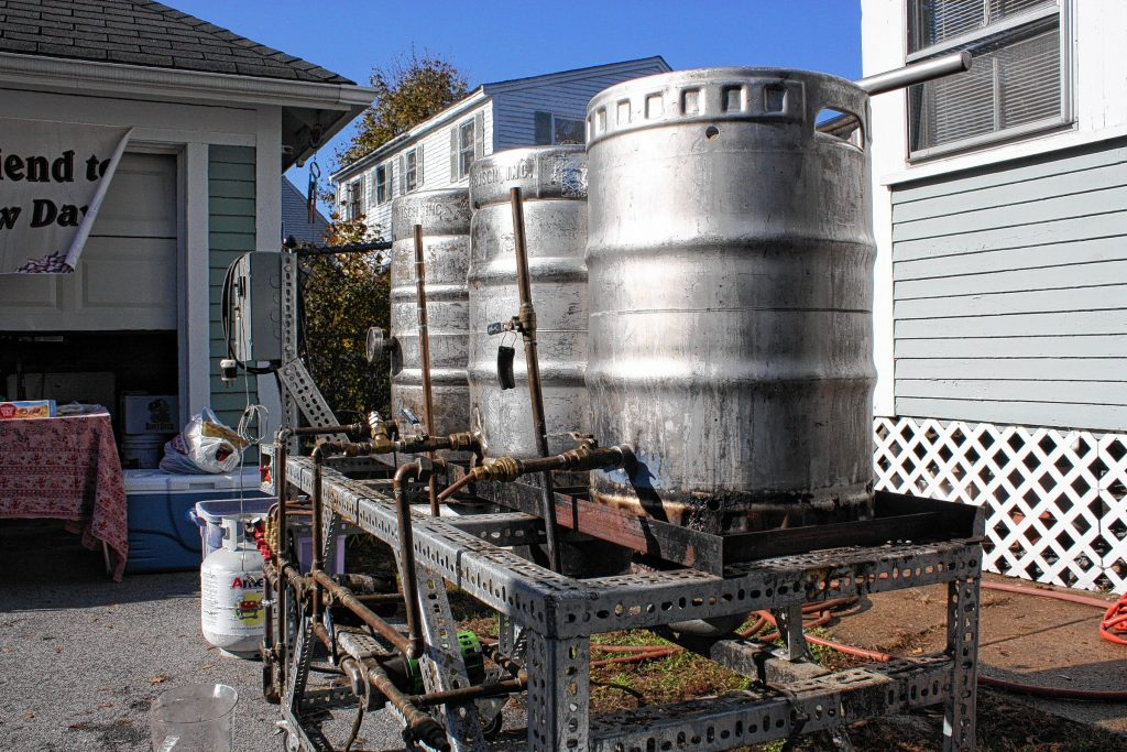 When Ed Ramshaw designed his homebrewing contraption, the end result resembled something more like a clothes-washing setup from the late 1800's, but it sure does produce some delicious-tasting beer.