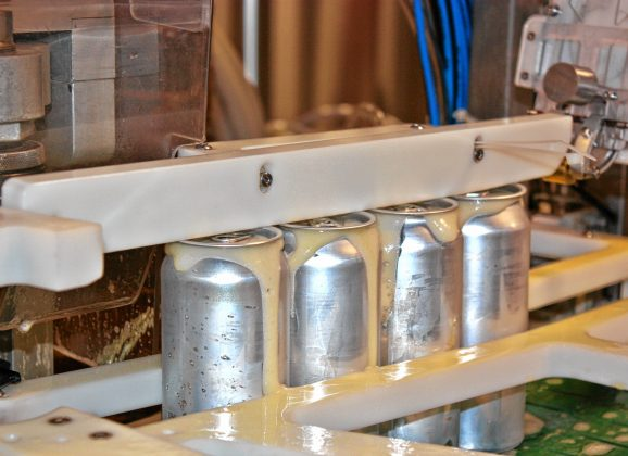 We checked out Iron Heart's mobile canning operation at Concord Craft Brewing Co.