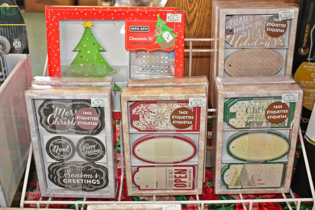 You can really step up your gift-tag game with these fancy  tag sets at Art Plus. JON BODELL / Insider staff