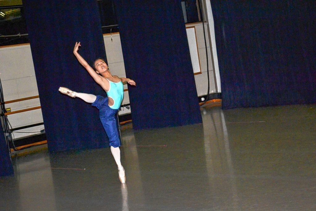 St. Paul's School Ballet Company member Moeka Xu works through her Nutcracker Act II dance during rehearsal last week in preparation of this week's performances of The Nutcracker Act II. TIM GOODWIN / Insider staff