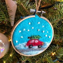 Go Try It: Needle felt an ornament at The Place