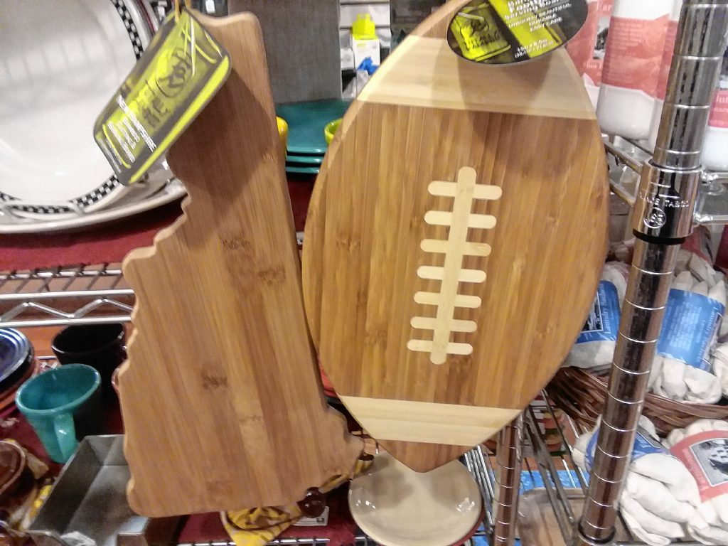 Things Are Cooking have the perfect cutting boards for those who love football or the Granite State. TIM GOODWIN / Insider staff